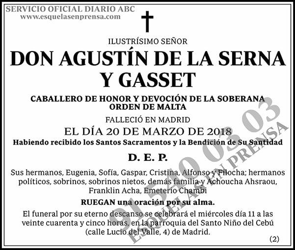 Agustín de la Serna y Gasset